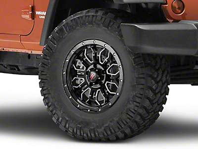 Havok Off-Road H-108 Black Machined Wheel - 17X9 (07-18 Wrangler JK; 2018 Wrangler JL)