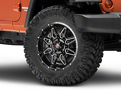 Havok Off-Road H-109 Black Machined Wheel - 18X9 (07-18 Wrangler JK)