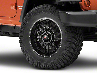 Havok Off-Road H-109 Matte Black Wheel - 18X9 (07-18 Wrangler JK; 2018 Wrangler JL)