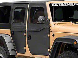 Bestop 2-Piece Full Fabric Front Doors - Black Diamond (07-18 Jeep Wrangler JK)
