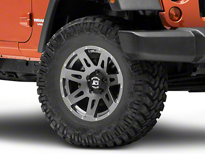 Rugged Ridge XHD Gun Metal Gray Wheel - 17x8.5 (07-18 Wrangler JK; 2018 Wrangler JL)