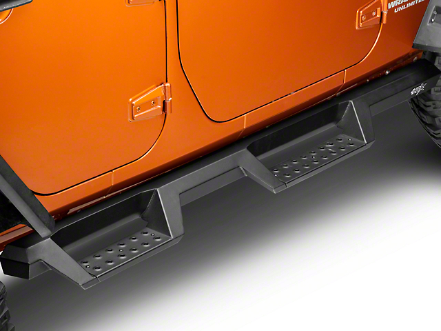 Westin HDX Drop Nerf Side Step Bars - Textured Black (07-18 Jeep Wrangler JK)