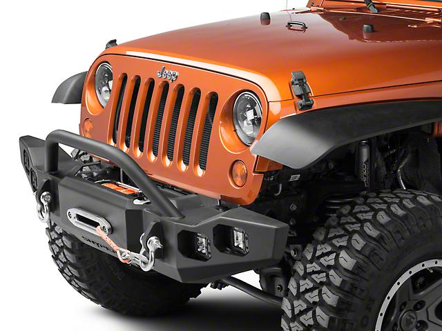 Marksman Front Bumper with Bull Bar (07-18 Jeep Wrangler JK)