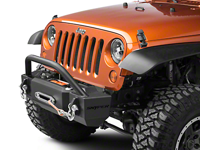 Snyper Scope Stubby Front Bumper w/ Bull Bar (07-18 Wrangler JK)