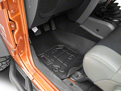 Wade Front Sure-Fit Floor Mats - Black (07-18 Wrangler JK)