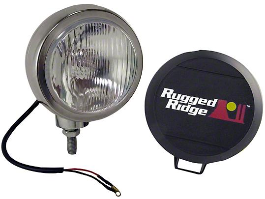 Rugged Ridge 5 in. Round HID Off-Road Fog Light - Single (87-18 Wrangler YJ, TJ & JK)