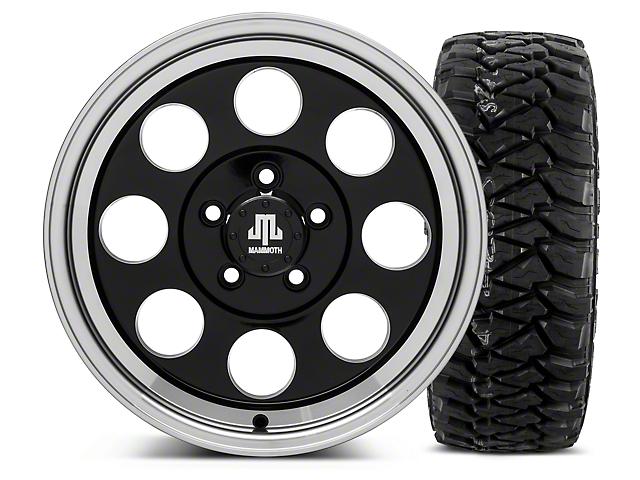 Mammoth 8 Black 16x8 Wheel and Mickey Thompson Baja MTZP3 305/70R16 Tire Kit (87-06 Jeep Wrangler YJ & TJ)