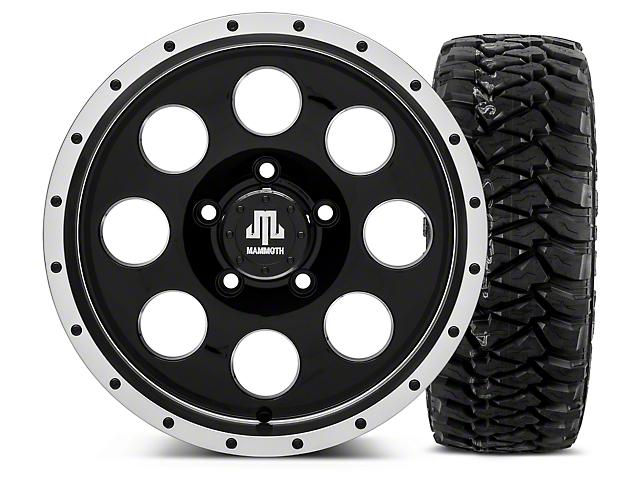 Mammoth 8 Beadlock Style Black - 16x8 Wheel - and Mickey Thompson Baja MTZP3 Tire - 305/70R16 (07-18 Wrangler JK; 2018 Wrangler JL)