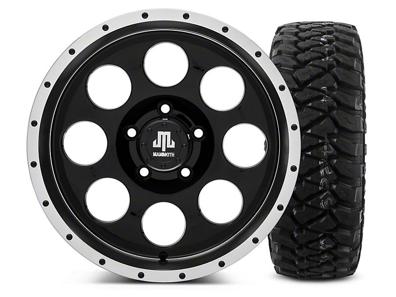 Mammoth 8 Beadlock Style Black - 17x9 Wheel - and Mickey Thompson Baja MTZP3 Tire - 285/70R17 (07-18 Jeep Wrangler JK; 2018 Jeep Wrangler JL)