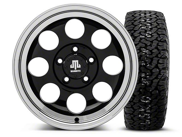 Mammoth 8 Black 15x8 Wheel & BF Goodrich All Terrain TA KO2 35x12.5R15 Tire Kit (87-06 Wrangler YJ & TJ)