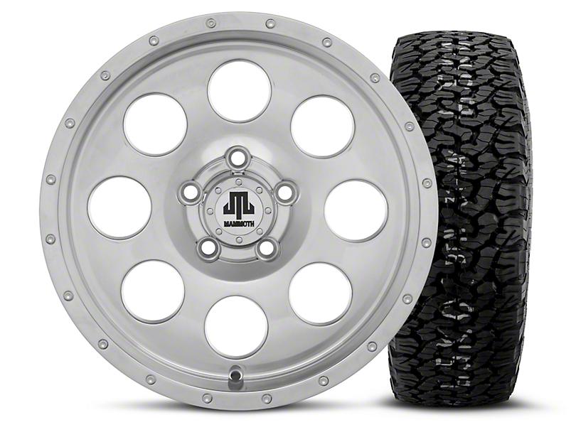 Mammoth 8 Beadlock Style Polished 15x8 Wheel & BF Goodrich All Terrain TA KO2 35x12.5R15 Tire Kit (87-06 Wrangler YJ & TJ)