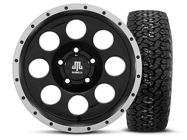 Mammoth 8 Beadlock Style Black 15x8 Wheel & BF Goodrich All Terrain TA KO2 35x12.5R15 Tire Kit (87-06 Wrangler YJ & TJ)