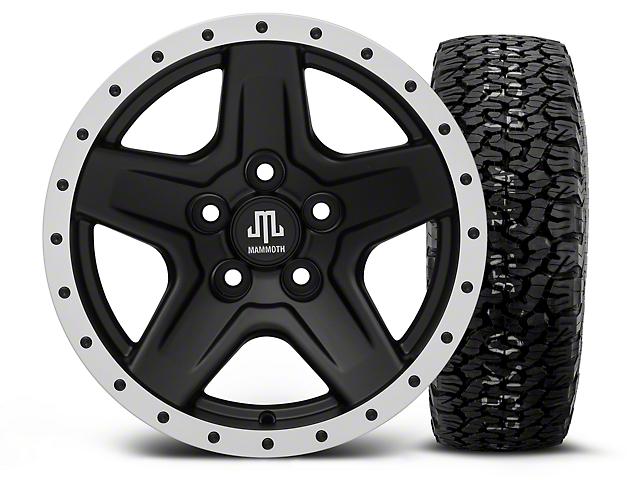 Mammoth Boulder Beadlock Style Black 15x8 Wheel and BF Goodrich All Terrain TA KO2 35x12.50R15 Tire Kit (87-06 Jeep Wrangler YJ & TJ)