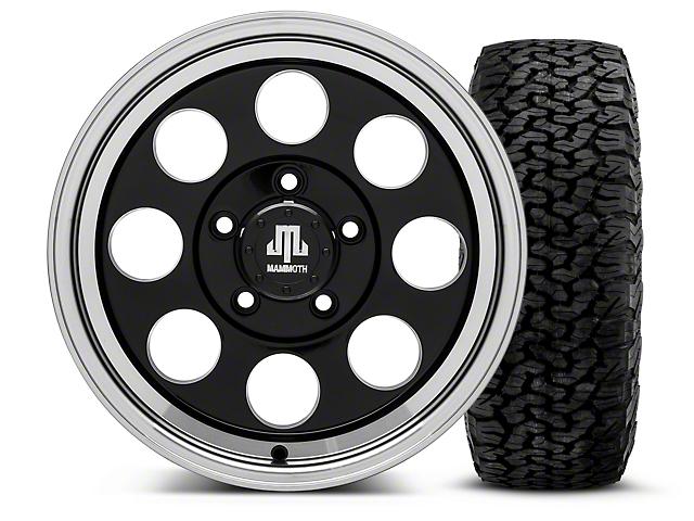 Mammoth 8 Black - 16x8 Wheel - and BF Goodrich All Terrain TA KO2 Tire - 305/70R16 (07-18 Jeep Wrangler JK; 2018 Jeep Wrangler JL)