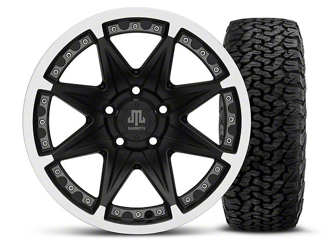 Mammoth Type 88 Black 16x8 Wheel & BF Goodrich All Terrain TA KO2 305/70R16 Tire Kit (87-06 Jeep Wrangler YJ & TJ)