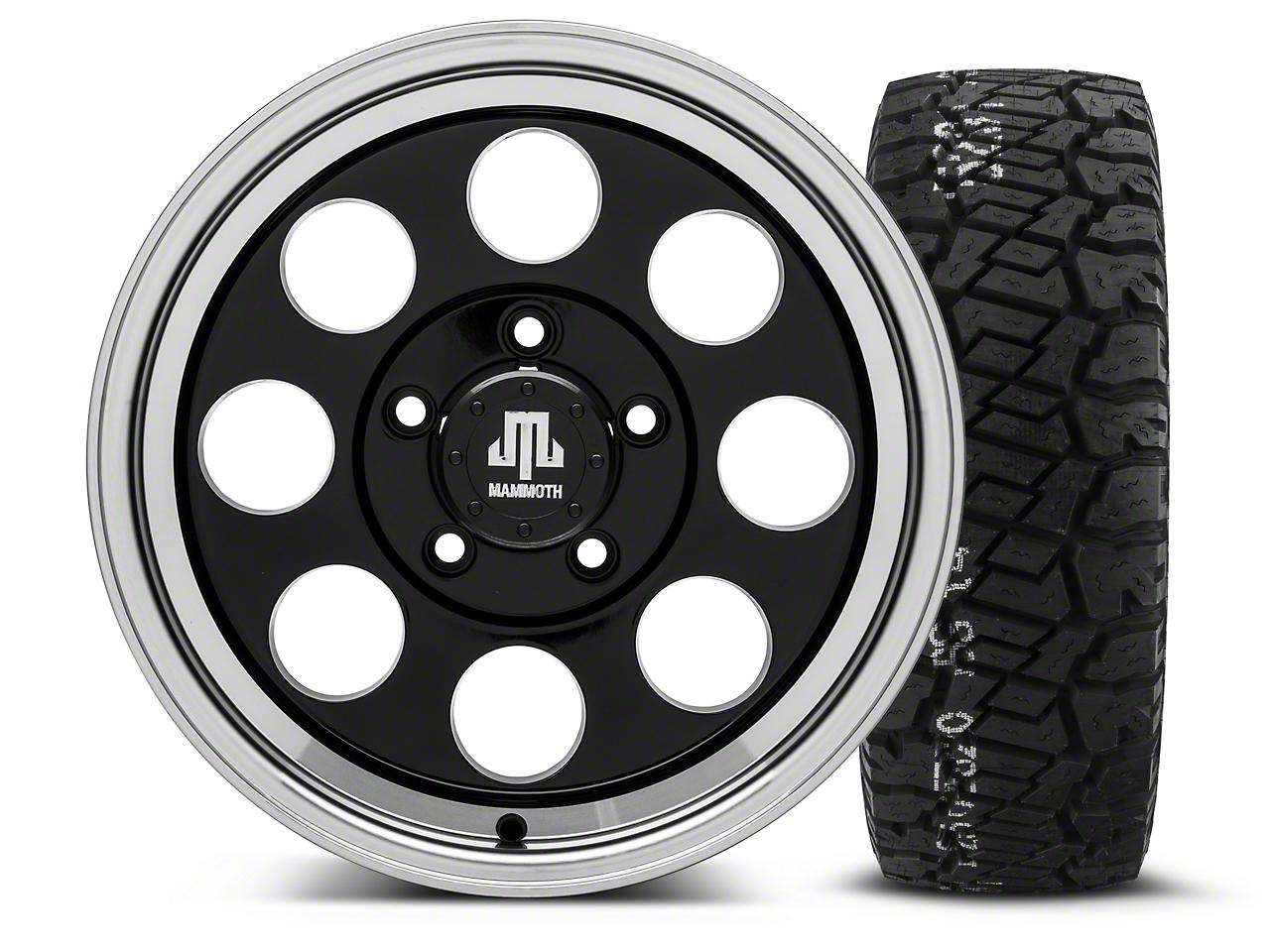 Mammoth 8 Black - 16x8 Wheel - and BF Goodrich All Terrain TA KO2 Tire - 315/75R16 (07-18 Jeep Wrangler JK; 2018 Jeep Wrangler JL)