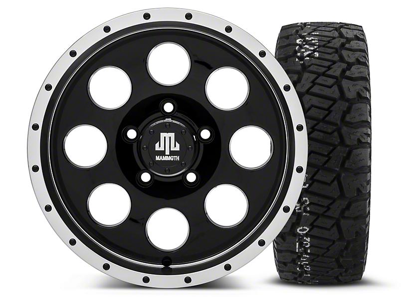 Mammoth 8 Beadlock Style Black - 16x8 Wheel - and BF Goodrich All Terrain TA KO2 Tire - 315/75R16 (07-18 Wrangler JK)