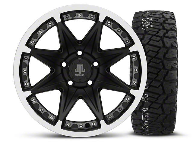 Mammoth Type 88 Black 16x8 Wheel & BF Goodrich All Terrain TA KO2 315/75R16 Tire Kit (87-06 Wrangler YJ & TJ)