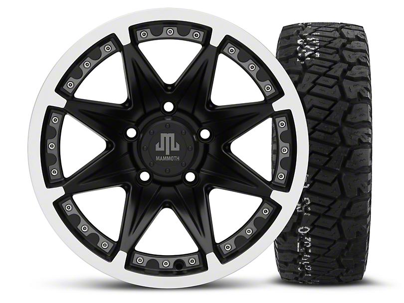 Mammoth Type 88 Black - 16x8 Wheel - and BF Goodrich All Terrain TA KO2 Tire - 315/75R16 (07-18 Jeep Wrangler JK; 2018 Jeep Wrangler JL)