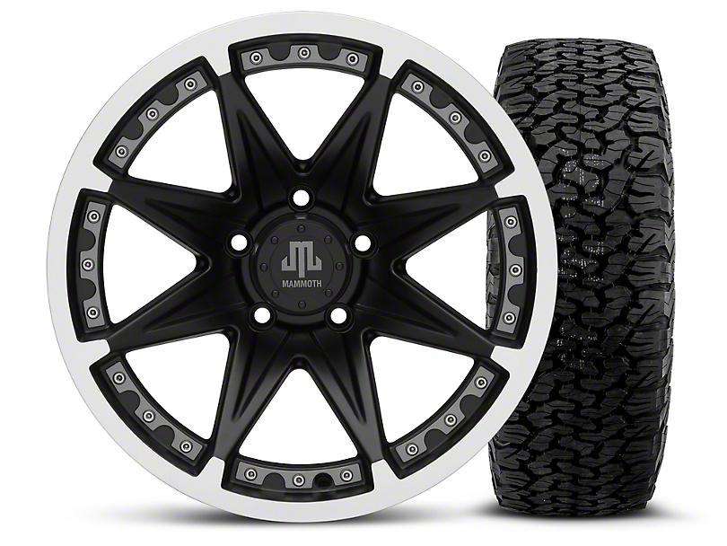 Mammoth Type 88 Black - 17x9 Wheel - and BF Goodrich All Terrain TA KO2 Tire - 315/70R17 (07-18 Wrangler JK; 2018 Wrangler JL)