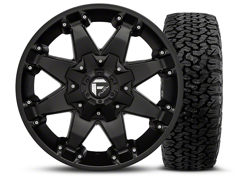fuel wheels jeep wrangler octane matte black 17x8 5 wheel and bf goodrich all terrain ta ko2. Black Bedroom Furniture Sets. Home Design Ideas