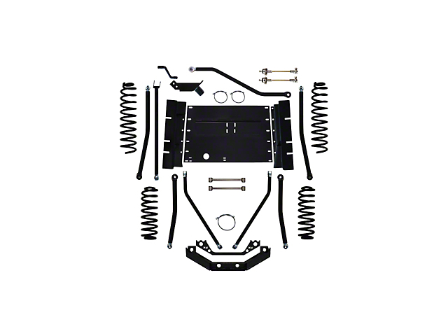 Rock Krawler 5.5 Inch X Factor Plus Long Arm System w/o Shocks (97-02 Jeep Wrangler TJ)