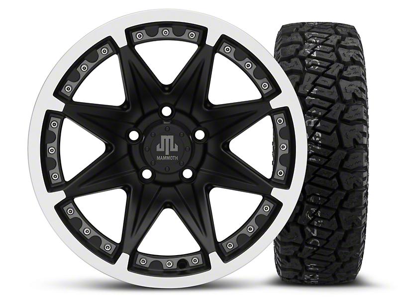 Mammoth Type 88 Black 16x8 Wheel & Dick Cepek Fun Country 265/75R16 Tire Kit (87-06 Jeep Wrangler YJ & TJ)
