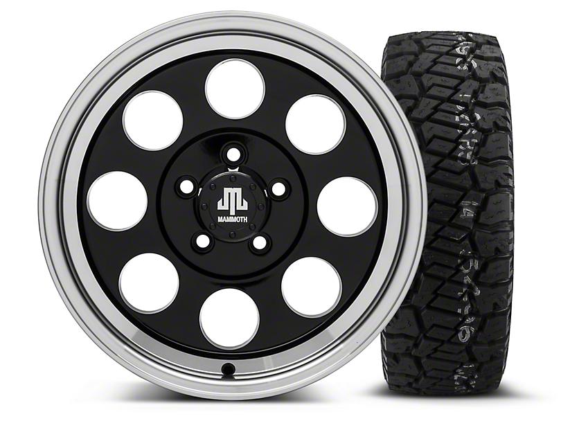 Mammoth 8 Black 16x8 Wheel & Dick Cepek Fun Country 285/75R16 Tire Kit (87-06 Wrangler YJ & TJ)