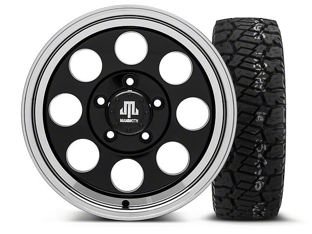 Mammoth 8 Black 16x8 Wheel and Dick Cepek Fun Country 285/75R16 Tire Kit (07-18 Jeep Wrangler JK)