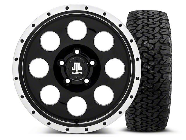 Mammoth 8 Beadlock Style Black - 16x8 Wheel - and Dick Cepek Fun Country Tire - 315/75R16 (87-06 Wrangler YJ & TJ)