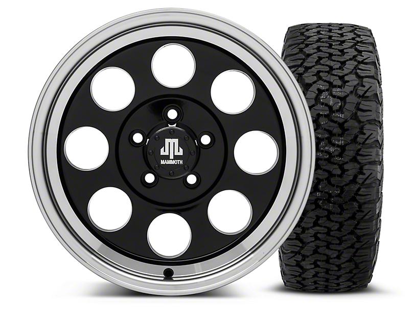 Mammoth 8 Black - 16x8 Wheel - and Dick Cepek Fun Country Tire - 315/75R16 (87-06 Wrangler YJ & TJ)