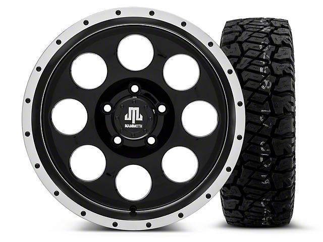 Mammoth 8 Beadlock Style Black - 17x9 Wheel - and Dick Cepek Fun Country Tire - 285/70R17 (07-18 Wrangler JK; 2018 Wrangler JL)