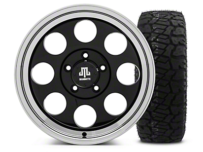 Mammoth 8 Black - 17x9 Wheel - and Dick Cepek Fun Country Tire - 315/70R17 (07-18 Jeep Wrangler JK; 2018 Jeep Wrangler JL)