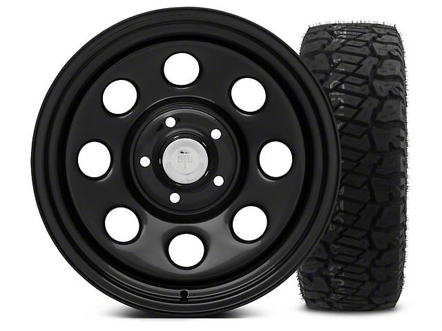Mammoth 8 Black Steel - 17x9 Wheel - and Dick Cepek Fun Country Tire - 315/70R17 (07-18 Wrangler JK; 2018 Wrangler JL)