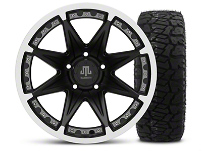 Mammoth Type 88 Black - 17x9 Wheel - and Dick Cepek Fun Country Tire - 315/70R17 (07-18 Jeep Wrangler JK; 2018 Jeep Wrangler JL)