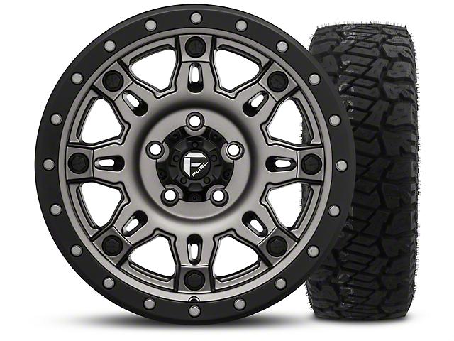 Fuel Wheels Jeep Wrangler Hostage Iii Gunmetal And Black 17x9