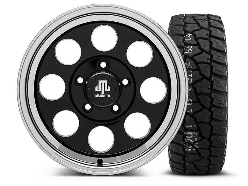 Mammoth 8 Black - 16x8 Wheel - and Mickey Thompson Baja ATX P3 Tire - 315/75R16 (07-18 Wrangler JK)