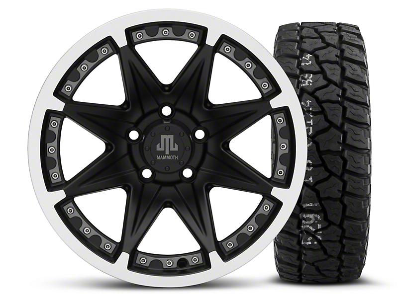 Mammoth Type 88 Black - 16x8 Wheel - and Mickey Thompson Baja ATZ P3 Tire - 315/75R16 (87-06 Wrangler YJ & TJ)
