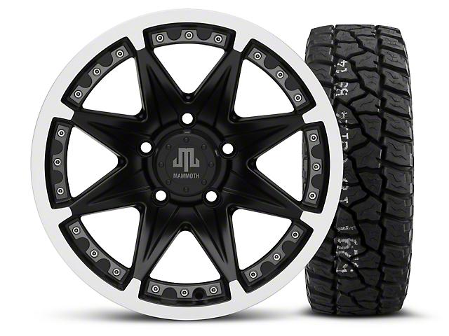 Mammoth Type 88 Black - 16x8 Wheel - and Mickey Thompson Baja ATZ P3 Tire - 315/75R16 (07-18 Jeep Wrangler JK)