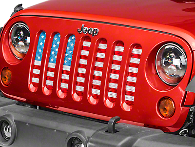 Dirty Acres Grille Insert - Old Glory (07-18 Jeep Wrangler JK)