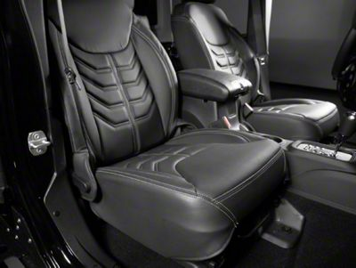 Jeep Wrangler 458 Style Leather Interior Kit Charcoal With Silver Stitching 13 16 Jeep Wrangler Jk 4 Door