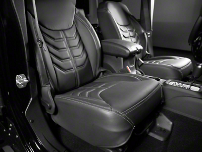 Star Fabricating 458 Style Leather Interior Kit - Charcoal w/ Silver Stitching (13-16 Wrangler JK)
