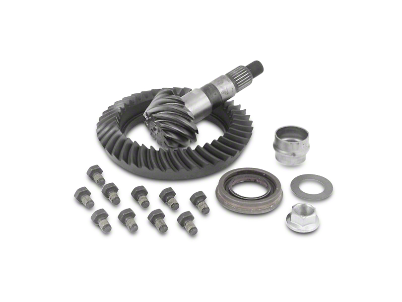 Dana 44 Front Axle/44 Rear Axle Ring and Pinion Gear Kit; 4.10 Gear Ratio (07-18 Jeep Wrangler JK Rubicon)