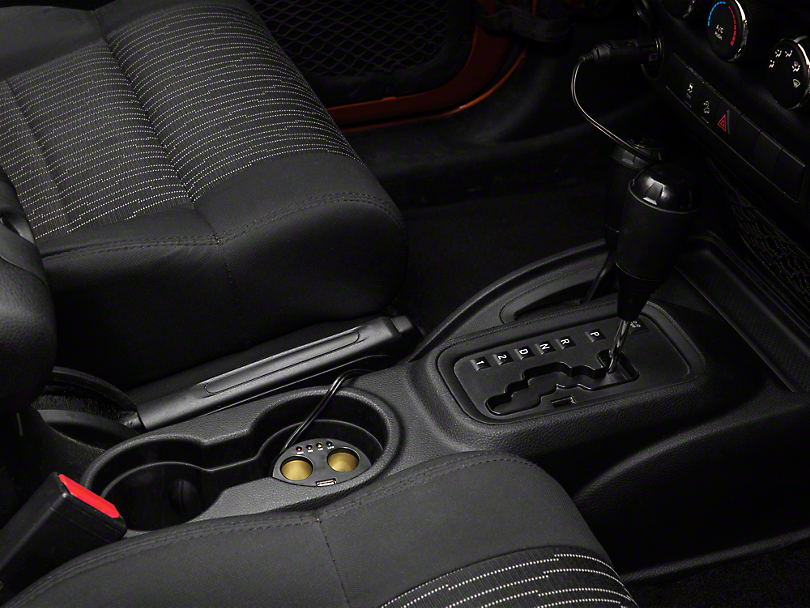 Rugged Ridge Power Cup w/ 2 USB and 2 Accessory Ports (07-18 Jeep Wrangler JK)