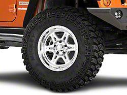 Raceline Renegade Polished Wheel; 17x9 (07-18 Jeep Wrangler JK)