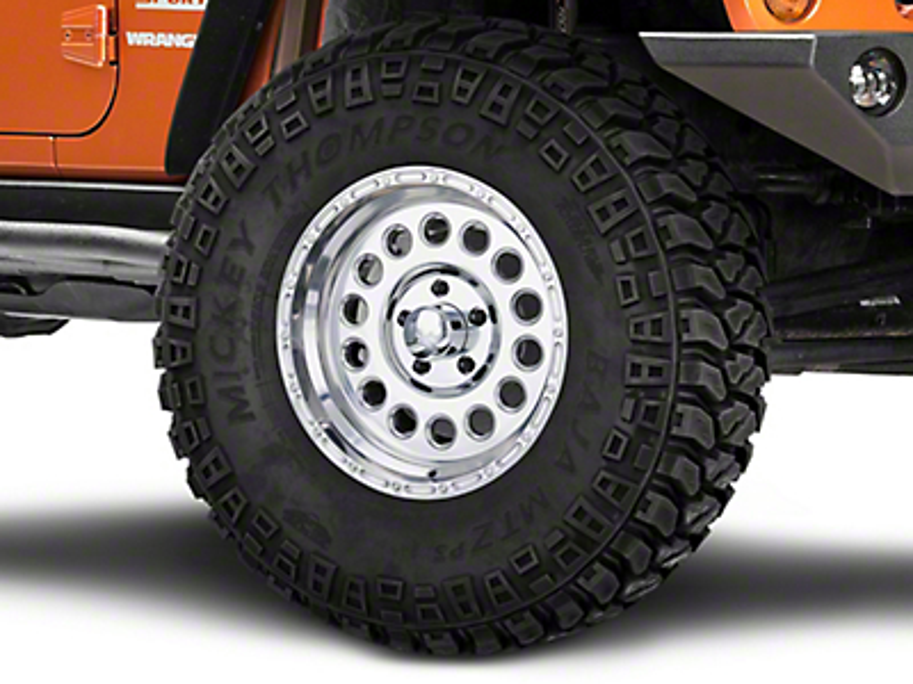 Raceline 887 Rockcrusher Polished Wheel - 17x9 (07-18 Jeep Wrangler JK; 2018 Jeep Wrangler JL)