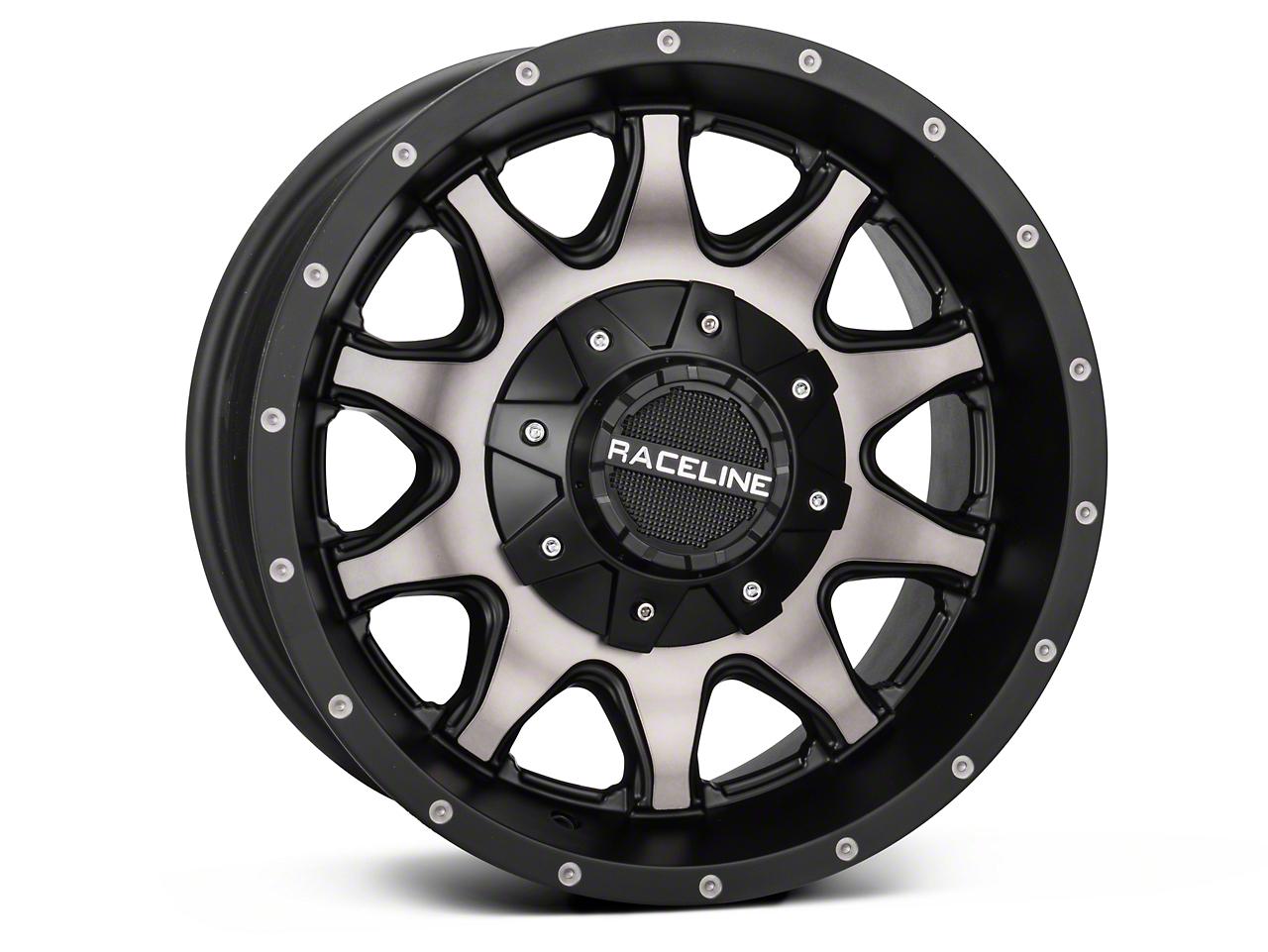 Raceline 930DM Shift Black Machined w/ Dark Tint Wheel - 16x8 (07-18 Wrangler JK; 2018 Wrangler JL)