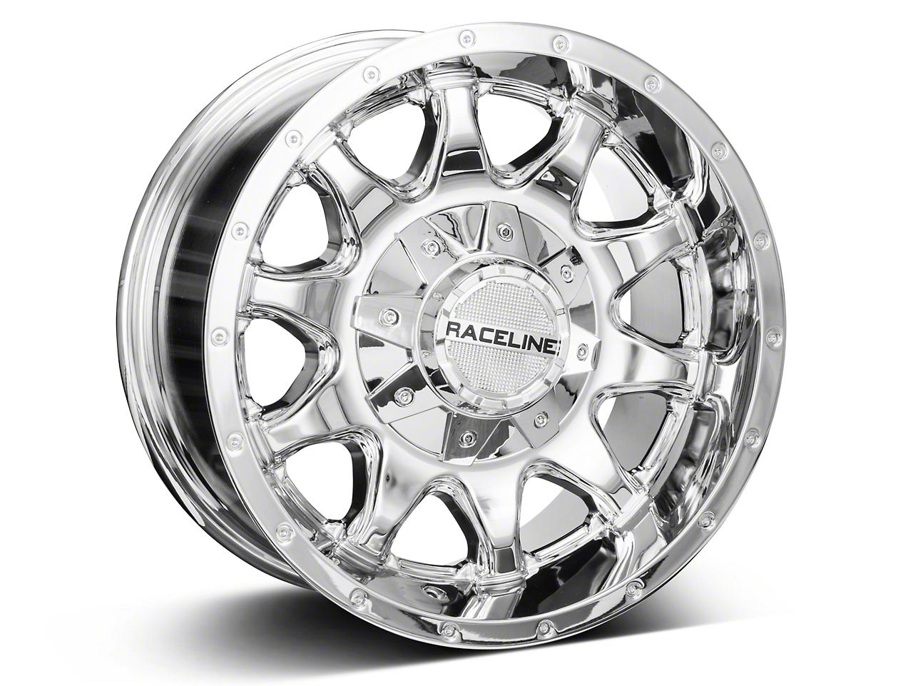 Raceline 930C Shift Chrome Wheel - 16x8 (07-18 Wrangler JK; 2018 Wrangler JL)