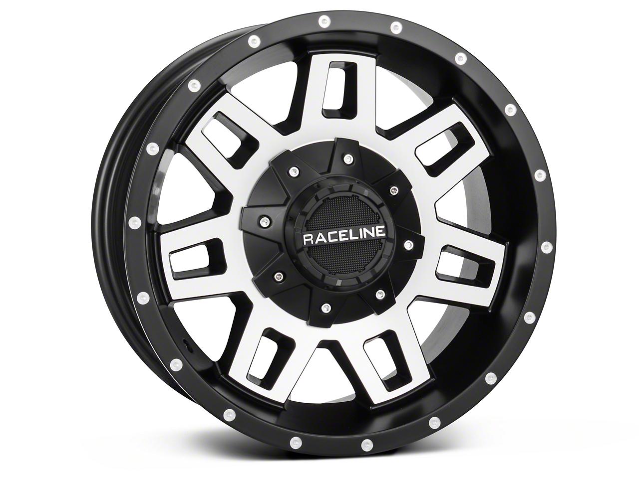 Raceline Injector Black Machined Wheel - 16x8 (07-18 Wrangler JK)