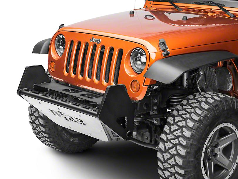 N-Fab RSP Front Bumper - Textured Black w/ Multi-Mount System (07-18 Jeep Wrangler JK)